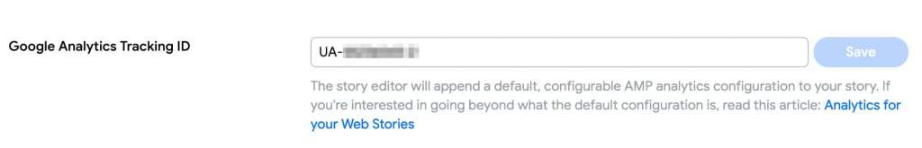 Web Stories Ga Id Code
